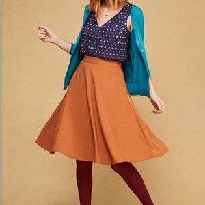 Modcloth Just This Sway A-line midi skirt. New!